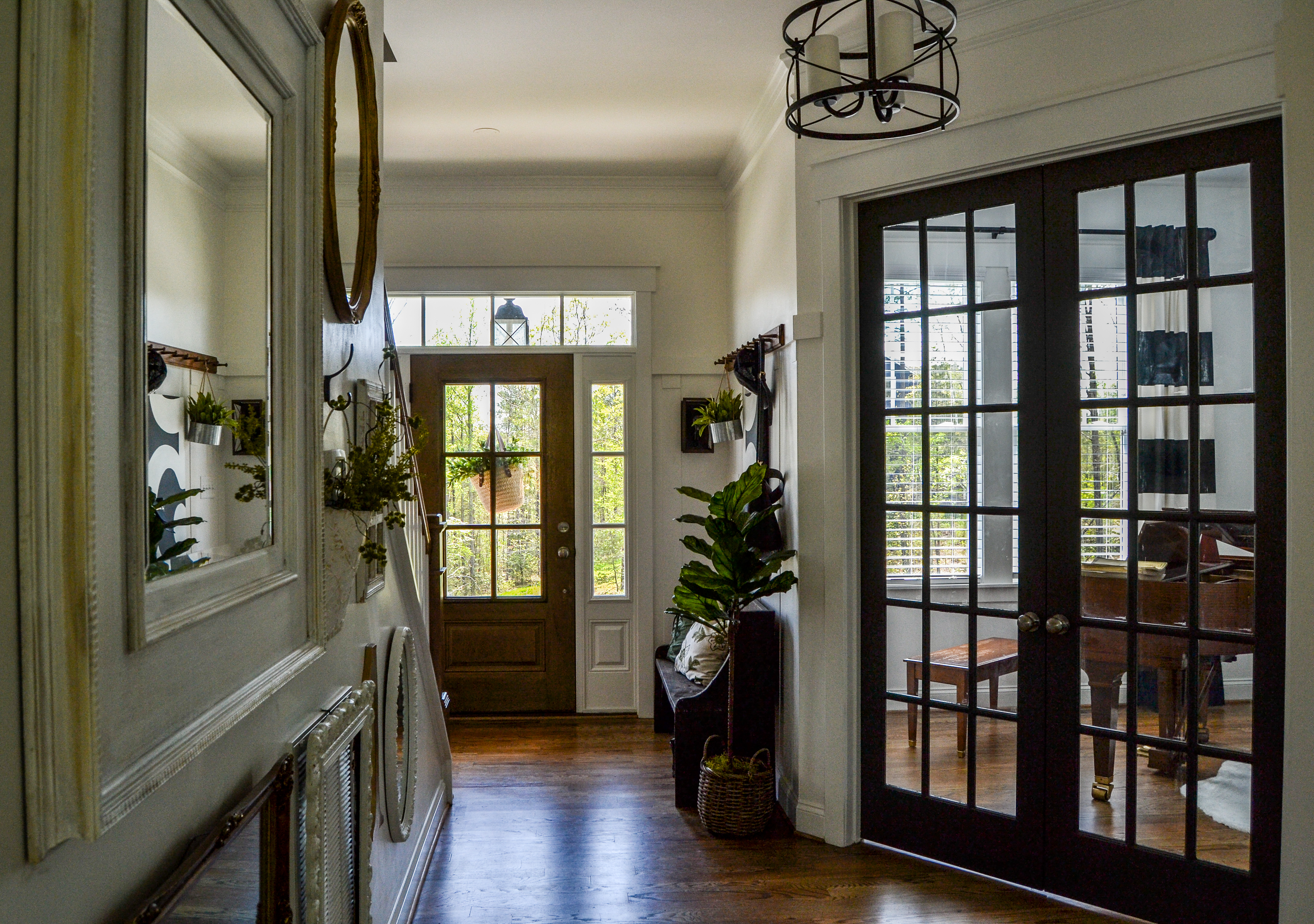 French Doors in the Foyer